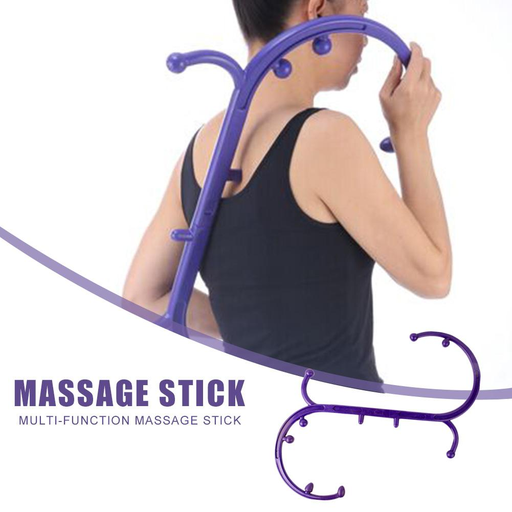 Portable Detachable S Type Back Neck Trigger Point Self Massage Stick Body Muscle Relief Back Massager Home Best Gift HealthCare