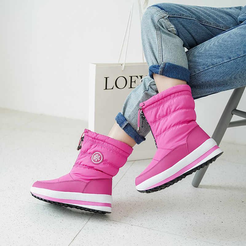 FEDONAS Kış Rahat Sıcak Kısa Kadın Kar Botları Klasik Kadın yarım çizmeler parti ayakkabıları Kadın Yeni Bayanlar Platform Botları
