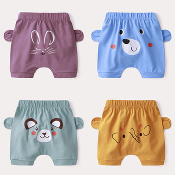 Newborn Gir Pants Toddler Shorts Baby Trousers Summer Cool Cotton Thin Cute Cartoon Mouse Print Casual Big PP Soft Infant Wear