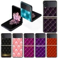 ピンクの革製携帯電話ケース,サムスンギャラクシー用のデラックスケース,3〜5g,黒