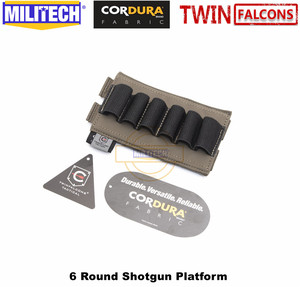 Image 4 - MILITECH TWINFALCONS TW 500D Delustered Cordura Molle 6 Rounds Buck Shotgun Shell Platform Ammo Pouch Elastic Band Ammo Base