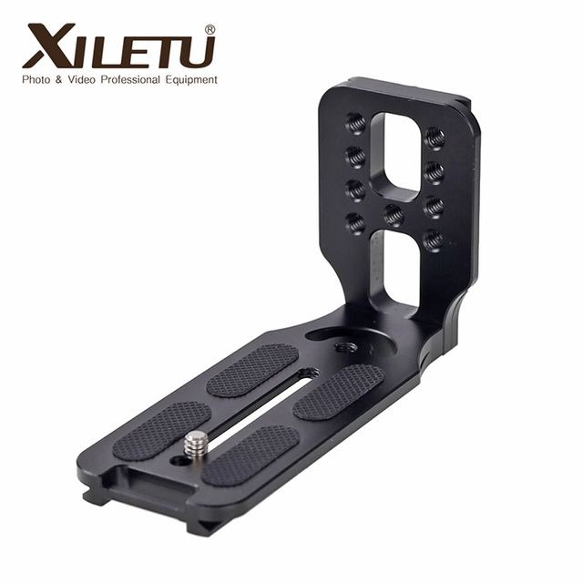 Universal DSLR Camera L Bracket Vertical Horizontal Switching Tripod Head Quick Release Plate Arca Swiss Compatible with Canon