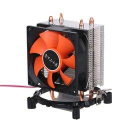 Chłodnica procesora hydraulicznego wentylatory Heatpipe cichy Radiator Radiator dwie drobna miedź rury grzewcze do platformy intel core AMD Sempron w Wentylatory i chłodzenie od Komputer i biuro na