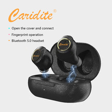 Caridite New Product S4 TWS Bluetooth Earphones Wireless Mobile Phone Gaming Touch Stereo Earbuds In-Ear Headset for Sport