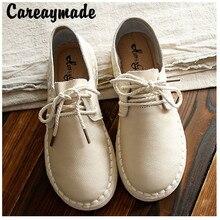 Careaymade-Summer,Genuine leather shoes,Pure handmade flats