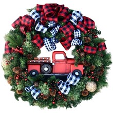 Creative Christmas Door Wreath Christmas Decoration Artificial Garland Wreaths For Car Home Window Wall Decoration