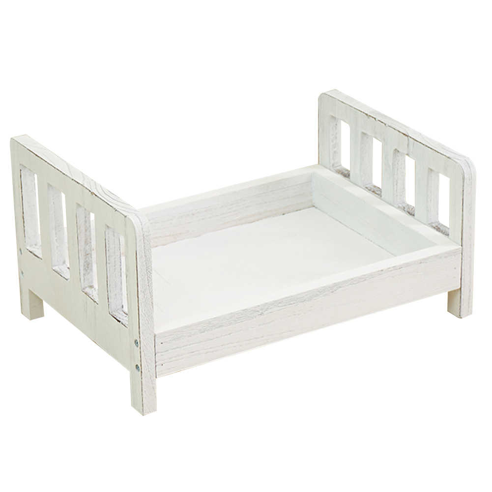Crib Wood Bed Detachable Posing Newborn Sofa Photo Shoot Gift Studio Props Baby Photography Background Accessories Infant Basket