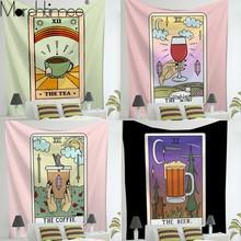 Psychiczny Tarot Tapestry Wall Hanging tkanina czary dostarcza dużą Mandala hipisowskie gobeliny Boho do dekoracji w stylu Boho tkanina ścienna tanie tanio Marchtimee CN (pochodzenie) Plants Animals Scenery Figure Nature Geometric Culture AUBUSSON 1 Piece Pranie ręczne Można prać w pralce