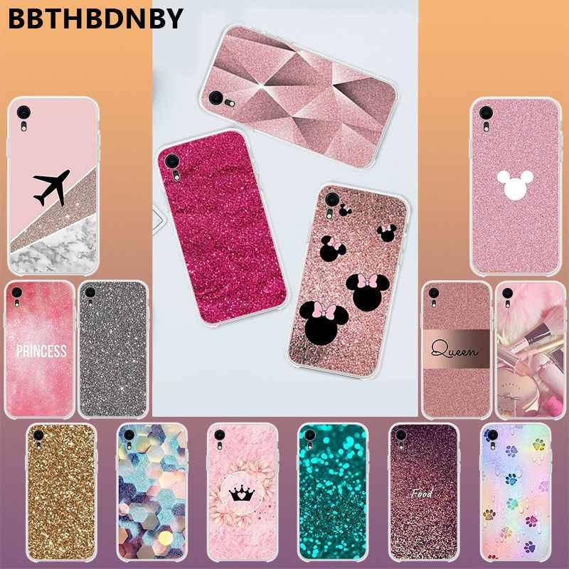 Di lusso di Diamanti Rosa Molle di TPU Trasparente Cassa Del Telefono per il iPhone 11 pro XS MAX 8 7 6 6S Plus X 5 5S SE XR copertura