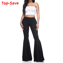 Flares Pants Bell Bottoms Pleated Streetwear High-Waist Plus-Size Casual Fashion Elegant