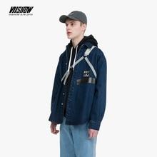 VIISHOW brand Autumn Cardigan Jeans Shirts Men Denim-Shirt  Long-Sleeve 100%Cotton Cowboy Casual shirt CC1829193
