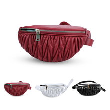 Waist Bags Women Fanny Pack Female Belt Bag Black red white Pure Color High Quality Chest Phone Pouch fashion Handbag