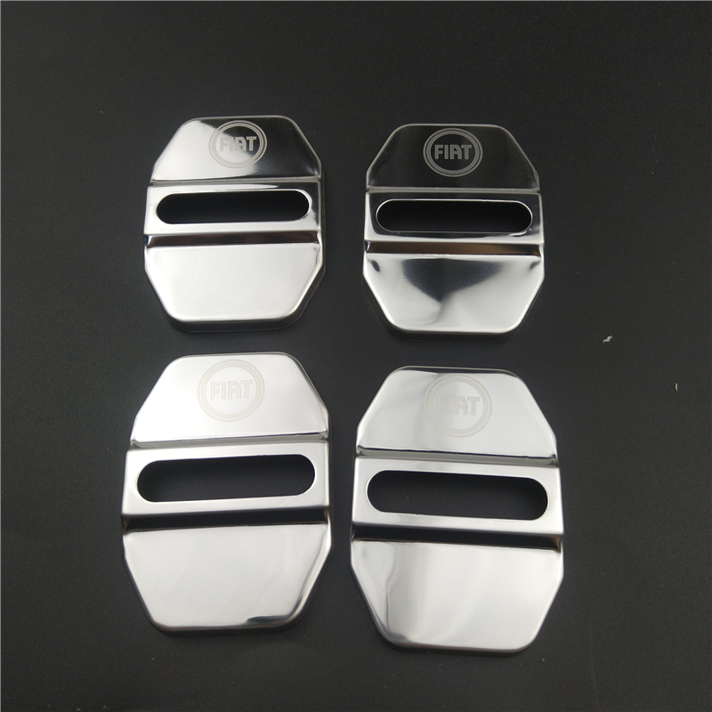 Auto CAR Door Lock Cover For Fiat Panda Bravo Punto Linea Croma 500 595 Car-Styling Badge Accessories 1pcs