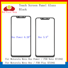 10Pcs/lot Touch Screen For Motorola Moto One P30 Play XT1941 Panel Front Outer LCD Glass Lens Power Note XT1942