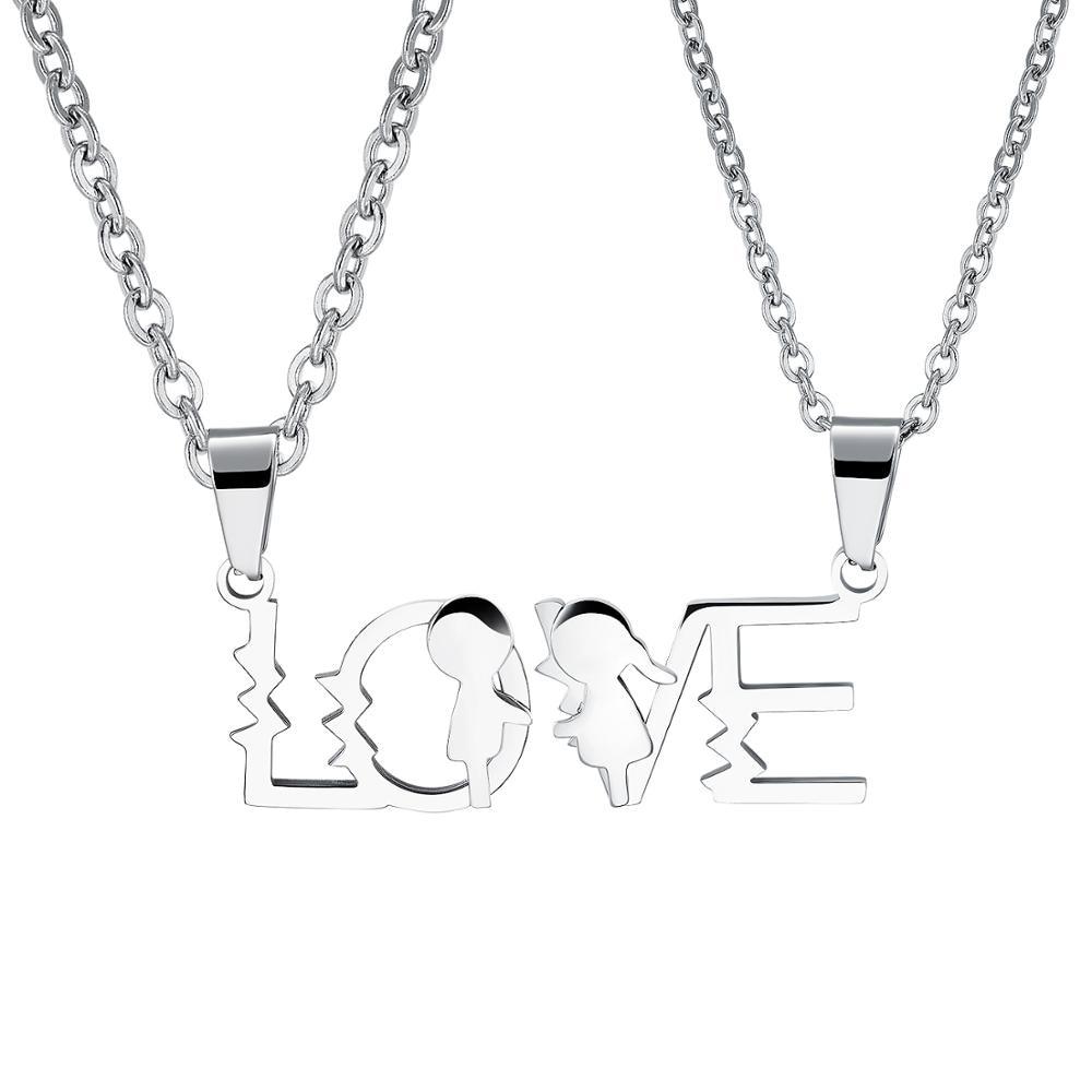 CH-656 amour fils fille garçons filles colliers en acier inoxydable pendentif mères pères collier pour famille maman papa enfants cadeaux