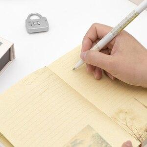 Image 5 - Livro de senha caderno com bloqueio, diário secreto para crianças adulto, criativo, grafia, caderno feminino, ilustração de página de cor