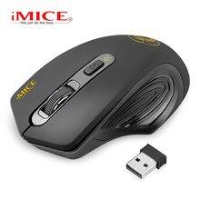 IMice ماوس لاسلكي صامت ماوس الكمبيوتر ماوس لاسلكية فأرة مريحة USB الكمبيوتر Mause الفئران البصرية زر بلا ضوضاء للكمبيوتر المحمول