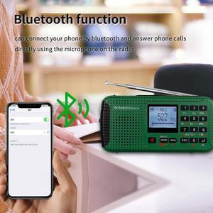 Image 3 - RETEKESS HR11S Tragbare Radio Bluetooth lautsprecher Solar Notfall Radio Empfänger FM MW SW Mit MP3 Player Digital Recorder