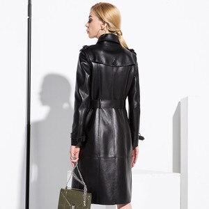 Image 4 - AYUNSUE, 100% натуральная овечья шерсть, пальто для женщин, уличная одежда, длинные пуховики, осенне зимняя куртка, женские Куртки из натуральной кожи, MY3731