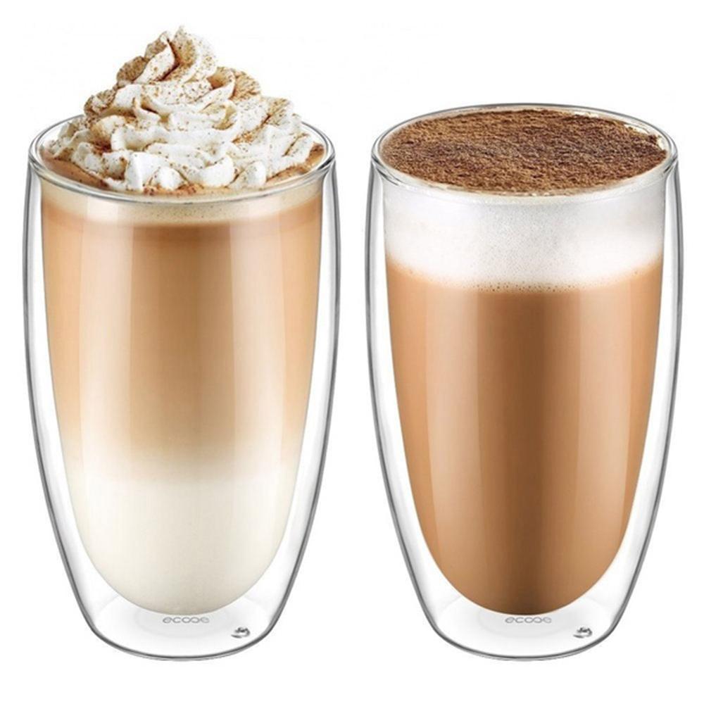 QQ LIFE New 6Pcs 80ml 2.7oz Glass Double Walled Heat Insulated Tumbler Espresso Tea Cup coffee mug tazas de ceramica creativas