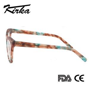 Image 4 - Kirka Women Optical Glasses Frame Cat Eye Eyeglasses Frame Reading Glasses Eyewear Accessories Women Eyewear Frame Myopia