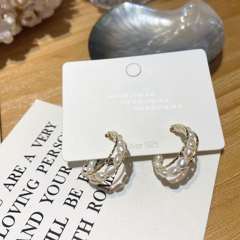 Женские круглые серьги кольца mengjiqiao корейские элегантные