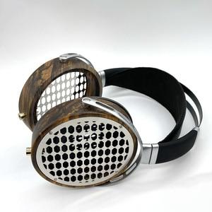 Image 5 - 105mm גדול אוזניות דיור פתוח סוג אוזניות אוזניות DIY מותאם אישית עץ אוזניות פגז מקרה