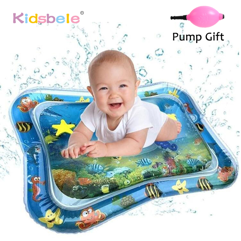 Baby Water Play Mat Tummy Time Toys For Newborns Playmat PVC Toddler Fun Activity Inflatbale Mat Infant Toys Seaworld Carpet