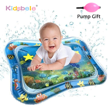 Tapis de jeu aquatique pour bébé, jouet gonflable pour nouveau né, en PVC, possibilité de les coucher sur le ventre, activités amusantes, découverte du monde de la mer