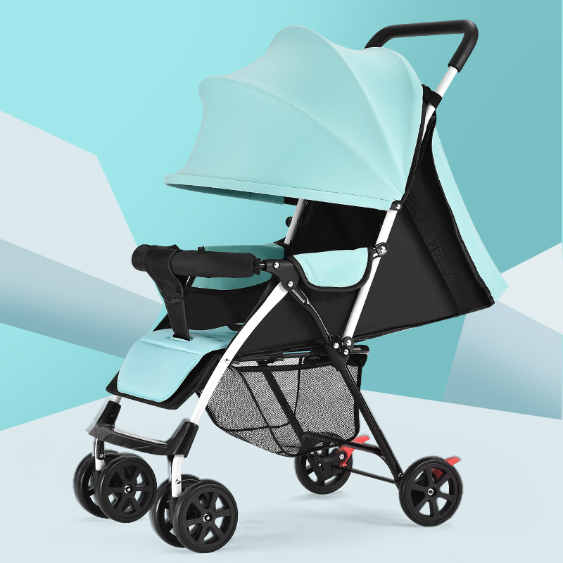 Baby Stroller Light Winter And Summer Dual-use Can Sit Can Lie Fold Shock-absorbing Baby Baby Umbrella Car One Side Hair