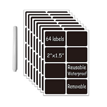 цена на Blackboard sticker chalk paper 64PCS / bag 5X3.8cm jar, glass bottle, kitchen organizer label, vinyl blackboard sticker