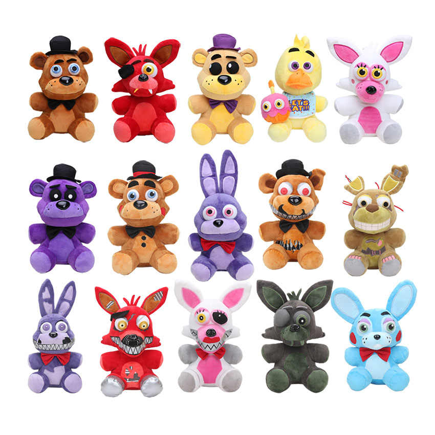 25 ซม.FNAF FIVE Nights ที่ Freddy's BONNIE Chica Cupcake FOXY Golden Freddy Fazbear Nightmare น้องสาว Location KIDS Plush ของเล่น
