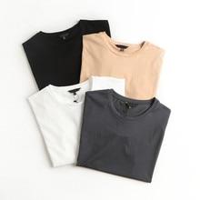 Maglietta in cotone donna Y2K estate Basic oversize t-shirt Casual maglietta allentata coreano O collo femminile bianco moda top 2021