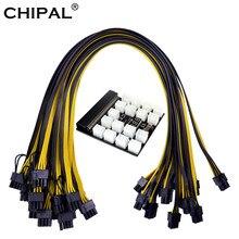 Chipal 12v 64pin placa de fuga do módulo de alimentação + 17 pces 12 6pin para 8pin cabo de alimentação para hp 1200w 750 psu mineiro gpu mineração eth