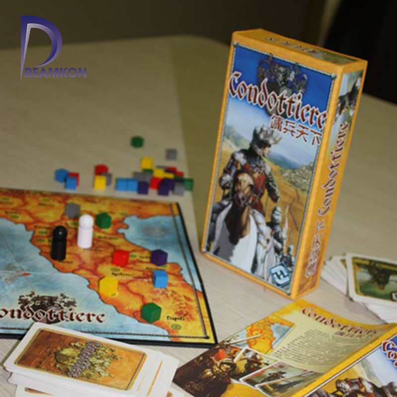 Board Game Condottiere 2-6 Players To Play Family/Party/ Friends Best Gift For Children Strategy Cards Game