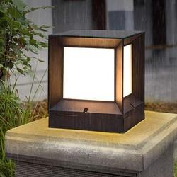 Thrisdar All'aperto Pilastro Solare della Luce di Via di Paesaggio Villa Patio Portico Paletto Luminoso Anteriore Porta Recinzione Colonna Della Lampada