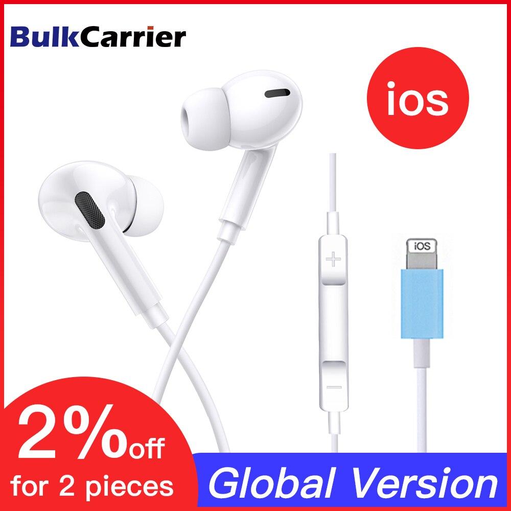 Гарнитура для IPhone 8 7 Plus X XR XS Max 10, проводные стереонаушники с микрофоном, Bluetooth, сабвуфер, музыкальные наушники|Наушники и гарнитуры|   | АлиЭкспресс