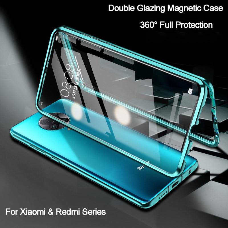 Двухсторонний магнитный металлический чехол для Redmi K30 Note 8 7 Pro 9S 8T 9A для Xiaomi Mi 10 9 Lite 9T POCO X3 NFC F1 F2 Pro, стеклянный чехол|Специальные чехлы|   | АлиЭкспресс