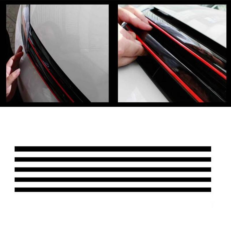 Car Reflective Sticker Front Hood Grille Decal Car Strip Sticker Decoration For VW Golf 6 7 Tiguan Waterproof Vehicle Decoration