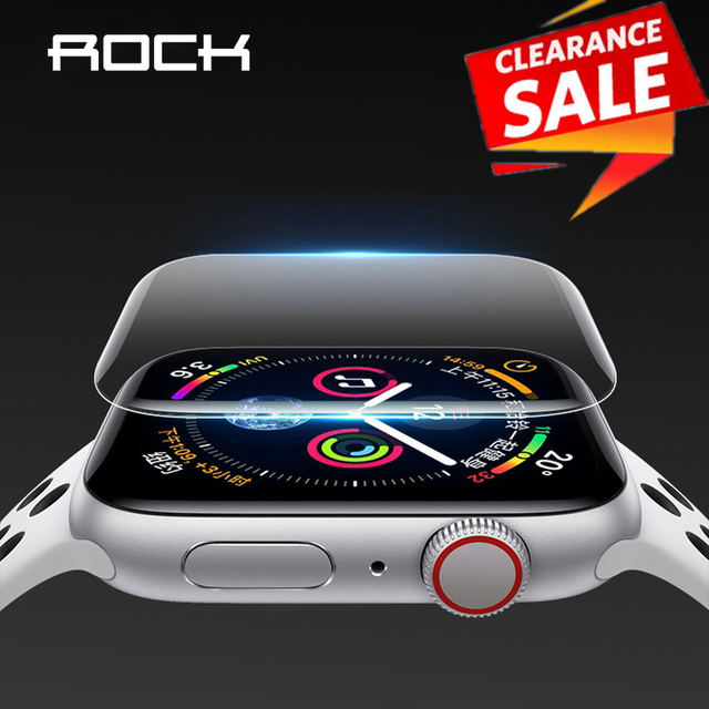 2pcs For Apple Watch Screen Protector for iWatch 4 3 2 ROCK Hydrogel Full Protective Film For Apple Watch of 38mm 40mm 42mm 44mm