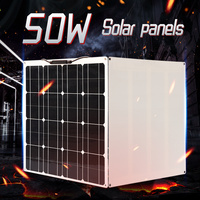 solar panel 200w 100w 50w 12v battery charger Flexible Solar cell Kit for car boat RV Solar Power home System Camping travel