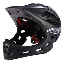 цена на Children Bike Riding Breathable Helmet Detachable Full Face Chin Protection Balance Bicycle Safety Helmet with Rear Light