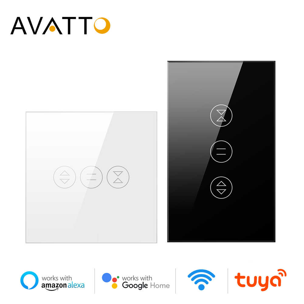 Avatto Tuya Wifi Tirai Switch untuk Electric Motorized Roller Shutter, Tirai EU/US Switch, rumah Pintar untuk Google Home, Alexa