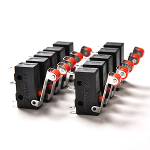 10Pcs/Set 5A 125 250V SPDT 1NO 1NC Momentary Hinge Roller Lever Tact Micro Switches 3 Pins KW11-N KW12 Mouse Reset Button