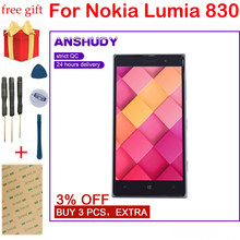 For Nokia Lumia 830 N830 RM-984 Touch Screen Digitizer Sensor Glass Panel + LCD Display Monitor Panel Module Assembly + Frame(China)