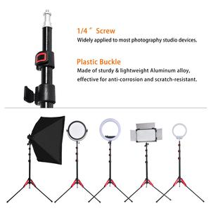 Image 5 - Fosoto ft 195とledライト三脚スタンド1/4ネジ写真スタジオ写真照明フラッシュ傘用キャリーバッグリフレクター