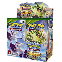 324pcs/Set Pokemon Trading Card Game XY: Roaring Skies Booster Trading Card Game Toys 4 pack trading card toploaders 3x4inch transparent