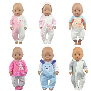 2020 New Fashion Doll Jump Suits Fit For 43cm Baby Doll 17 Inch Reborn Baby Doll Clothes