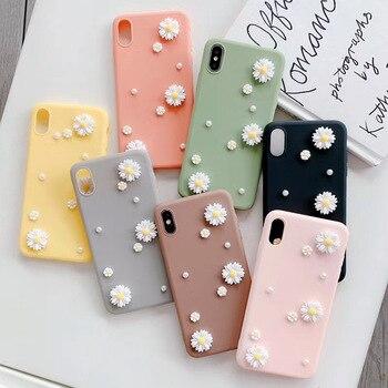 Перейти на Алиэкспресс и купить Мягкий чехол для телефона с 3D жемчужной ромашкой, для Redmi Note 3 4 5 6 7 8 9 4X 5Pro 5A Prime 6Pro 7Pro 7S 8Pro 8T 9Pro 9S Pro Max