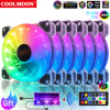 COOLMOON Cooling Fan Mute PC Computer Case Gamer Cabinet Cooler 120mm RGB Ventilador Heat sink CPU 6PIN Radiator Fans Aura Sync